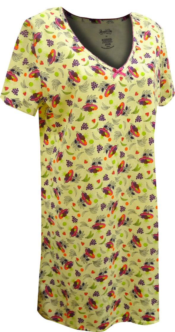 Tropical Getaway Plus Size Night Shirt