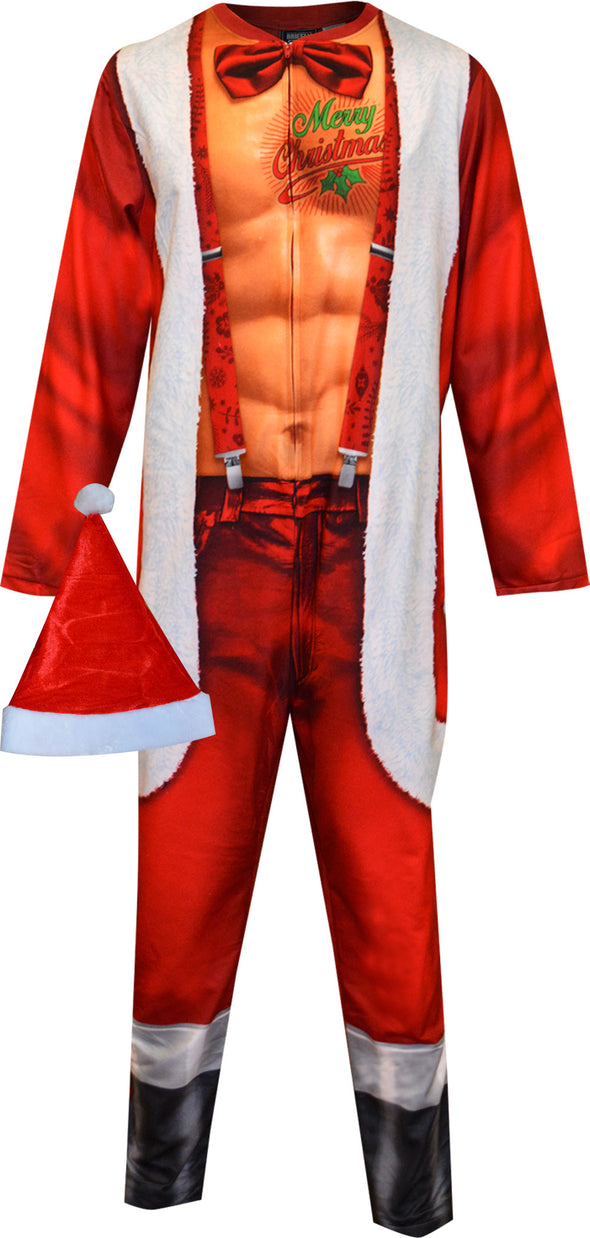 Sexy Santa Claus Adult Onesie Pajama with Hat