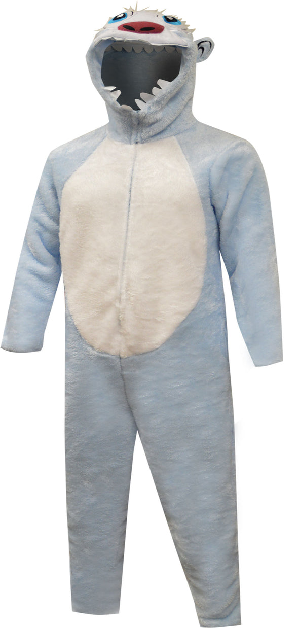 Abominable Snowman Yeti One Piece Hooded Pajama