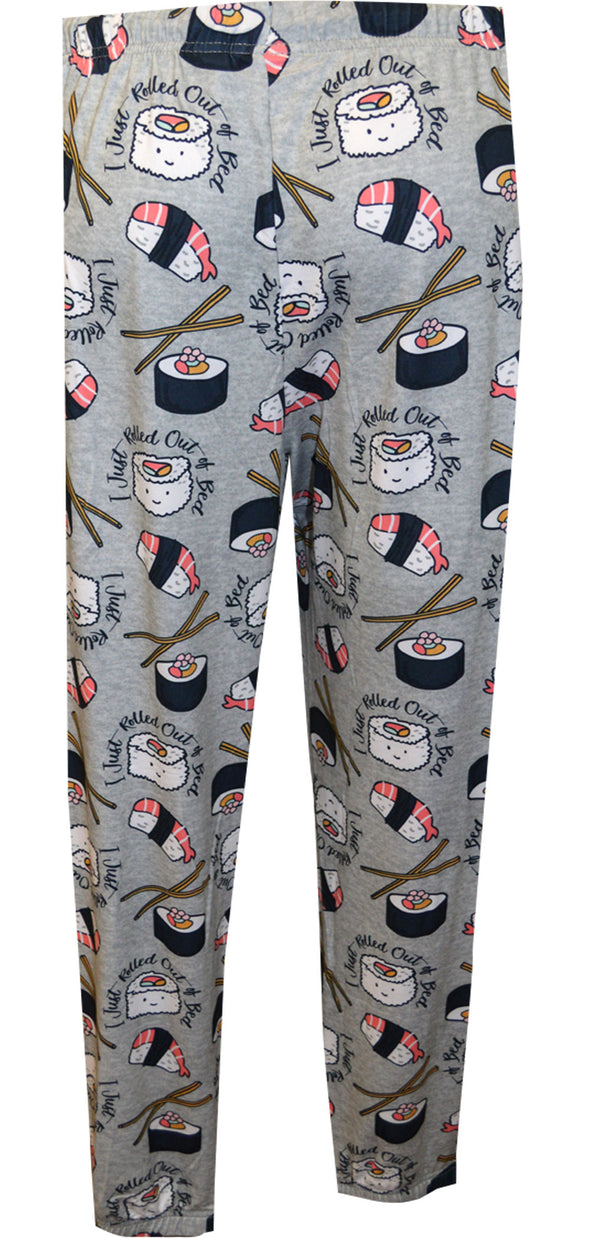 Sushi Roll Just Rolled Out of Bed Easy Comfort Ladies Sleep Jogger