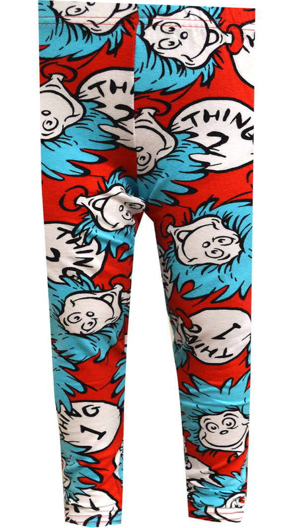 Dr. Seuss Cat in the Hat Thing 1 and Thing 2 Girls Legging