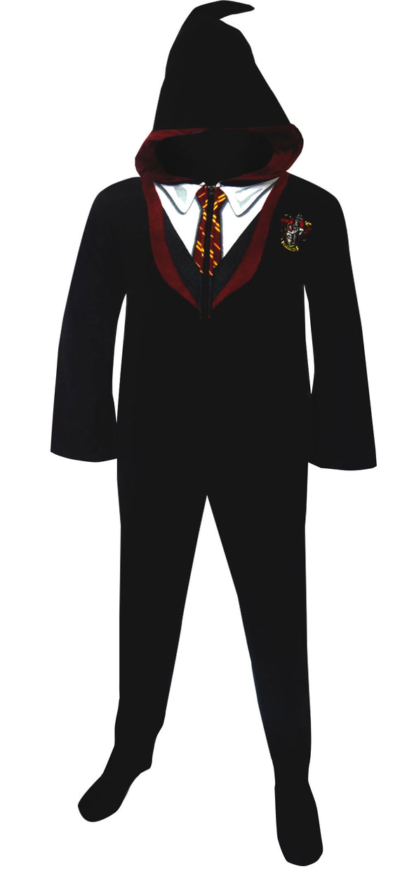 Harry Potter Gryffindor House Uniform Hooded Footie Pajama