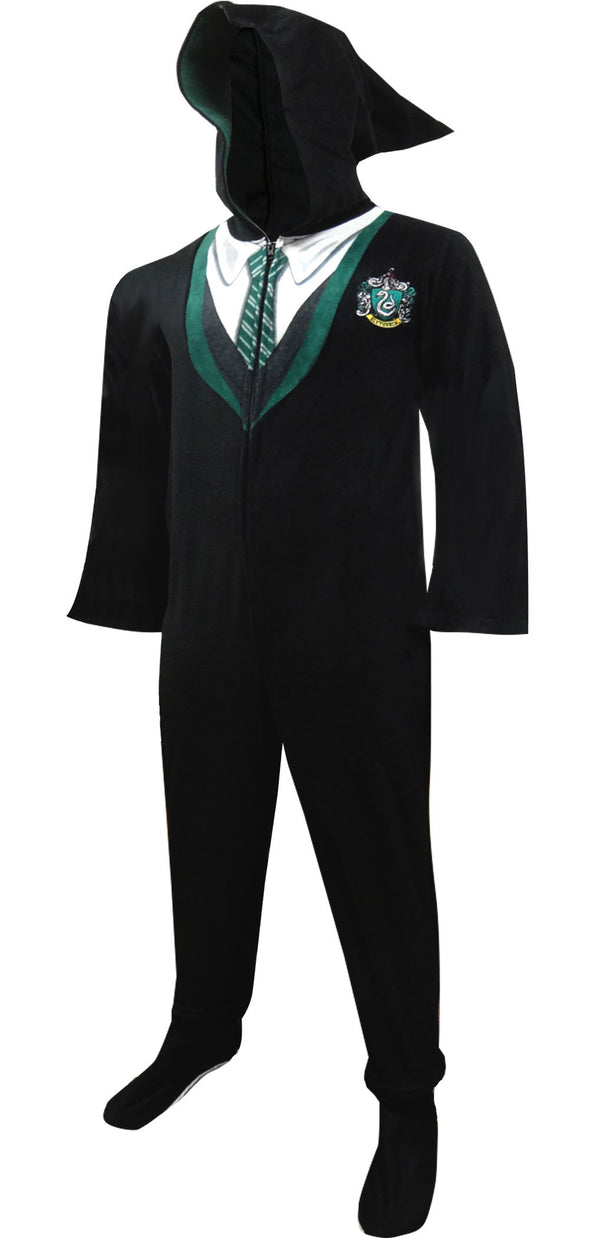 Harry Potter Slytherin House Uniform Hooded Footie Pajama