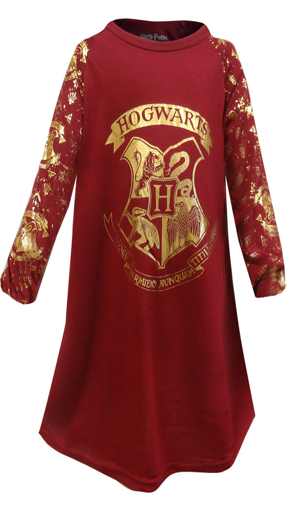 Harry Potter Hogwarts Crest Girls Nightgown Size 7