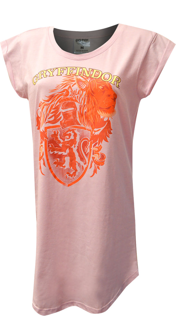 Harry Potter Gryffindor House Mascot Ladies Plus Size Nightshirt