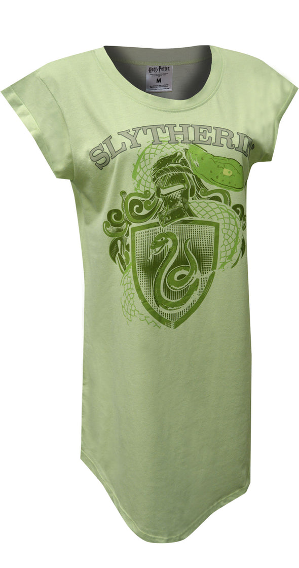 Harry Potter Slytherin House Mascot Ladies Plus Size Nightshirt