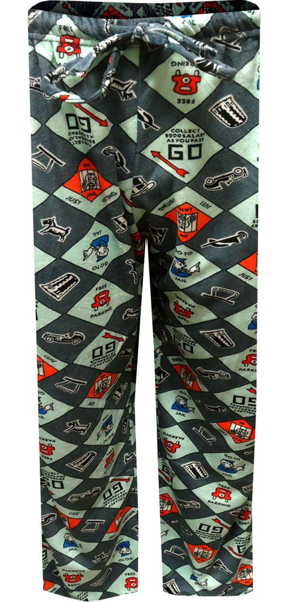 Monopoly Board and Game Pieces Silky Fleece Lounge Pants