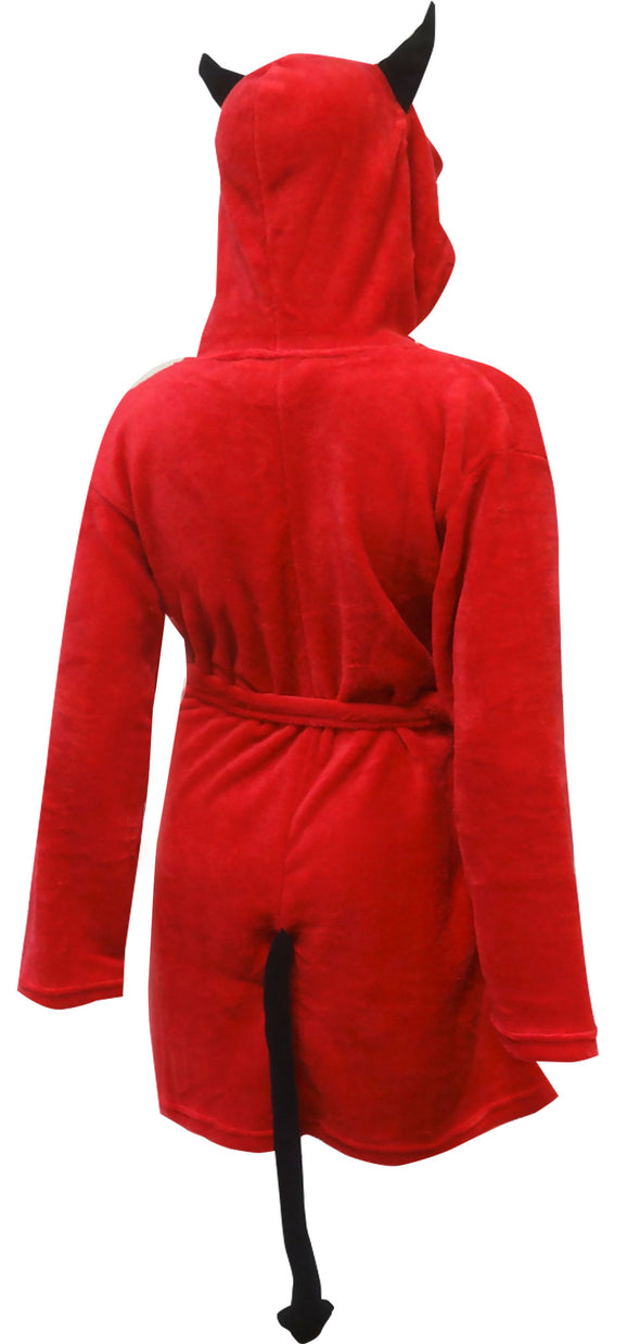 Little Red Devil Hooded Plush Robe
