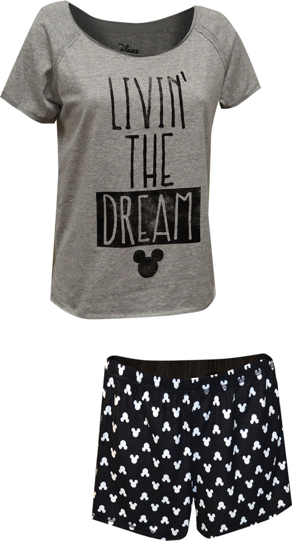Disney Mickey Mouse Livin' the Dream Shortie Pajama Set