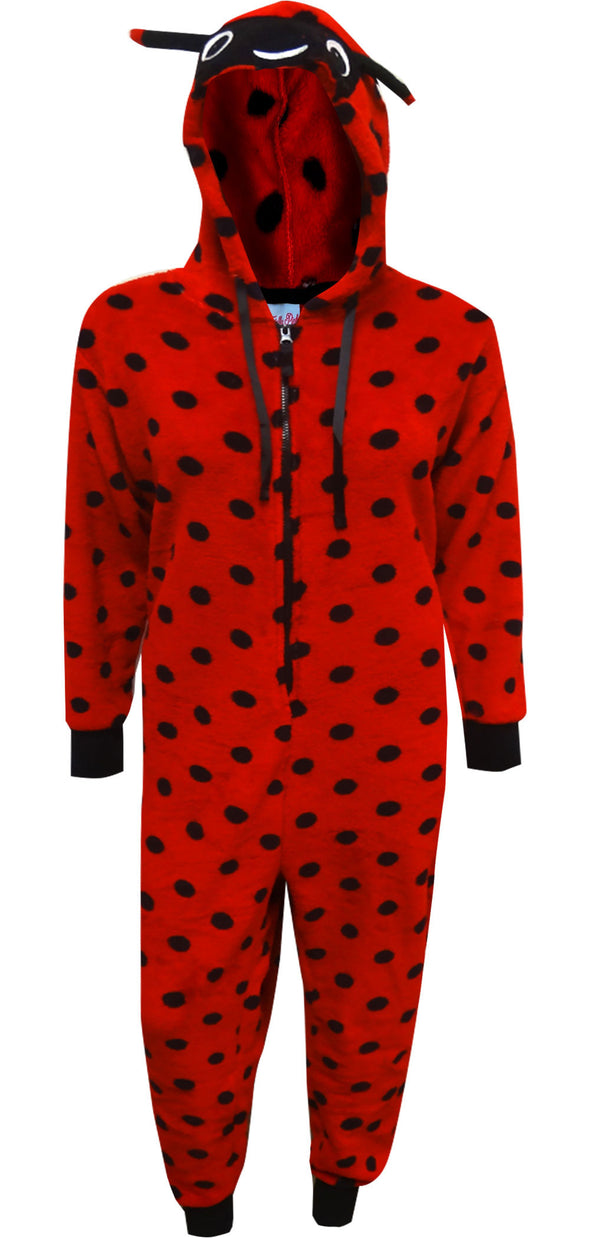 Red Ladybug Hooded Plus Size Onesie Pajama