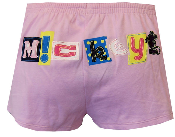 Disney World Vacation Mickey Mouse Pink Sleep Shorts Size Small