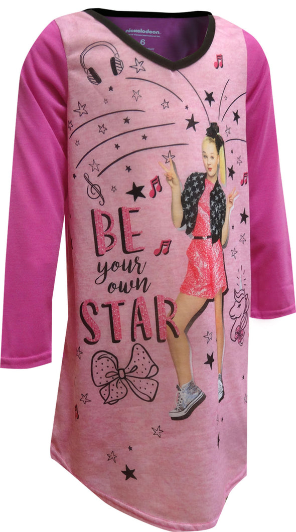 JoJo Siwa Be Your Own Star Long Sleeve Nightgown