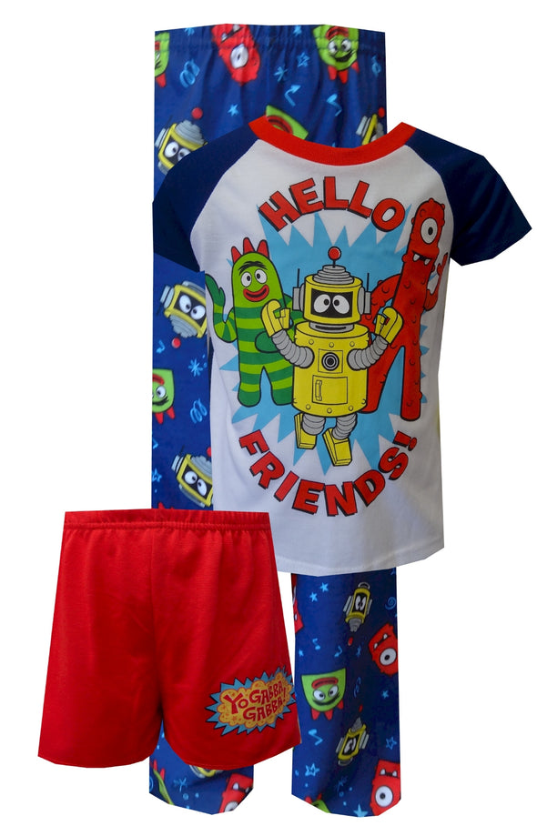Nickelodeon Yo Gabba Gabba Toddler 3 Piece Pajamas