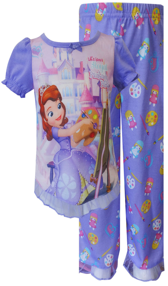 Disney Sofia the First Painting Party Pajama Size 2T
