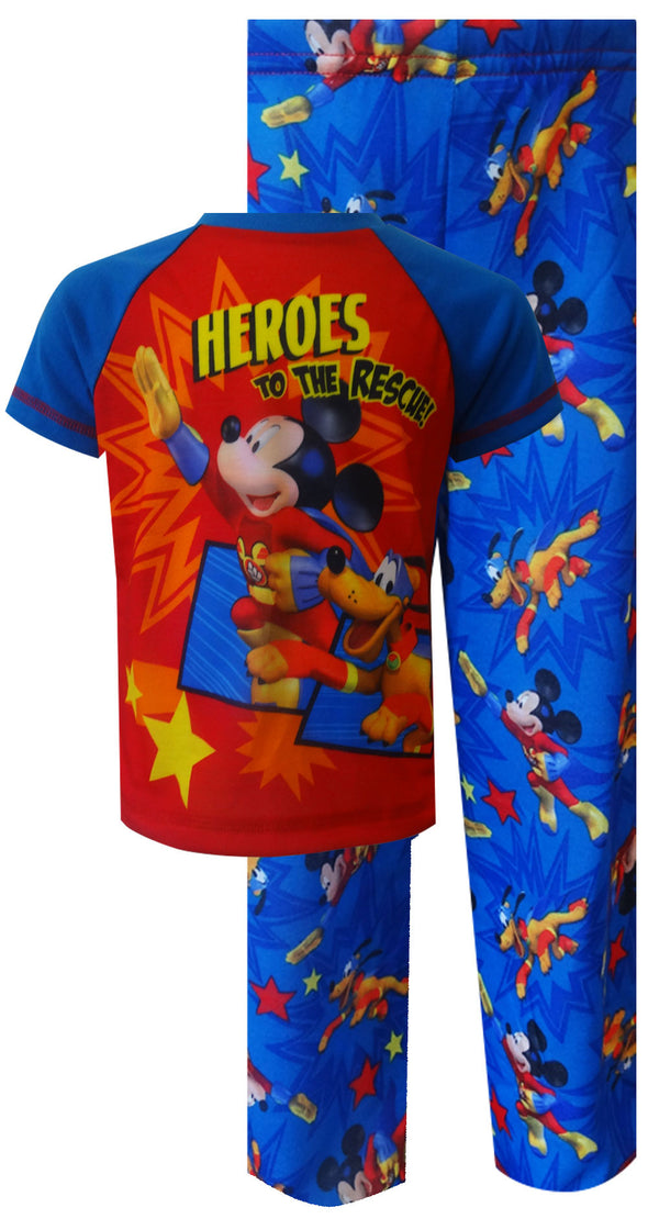 Mickey Mouse & Pluto Heroes to the Rescue Toddler Pajamas 2T