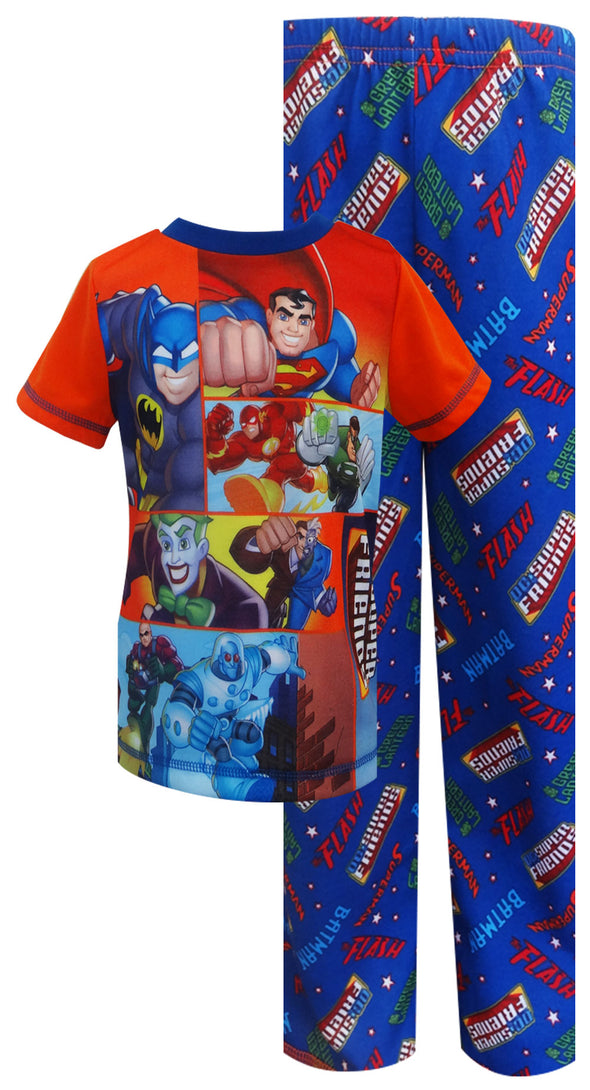 DC Comics Super Friends Heroes and Villains Toddler Pajama
