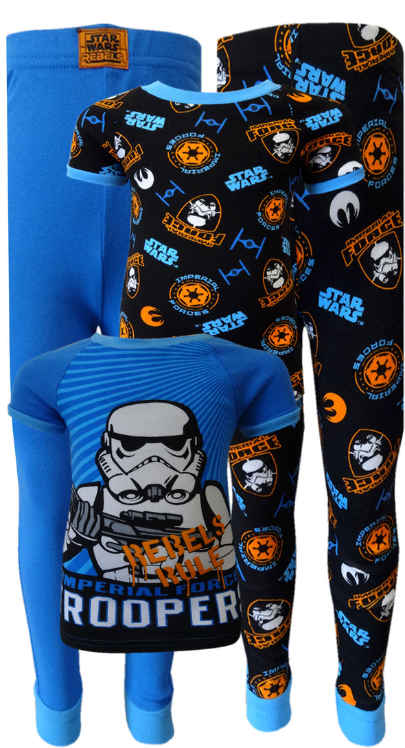 Star Wars Rebels Imperial Force Storm Troopers 4 Piece Pajamas