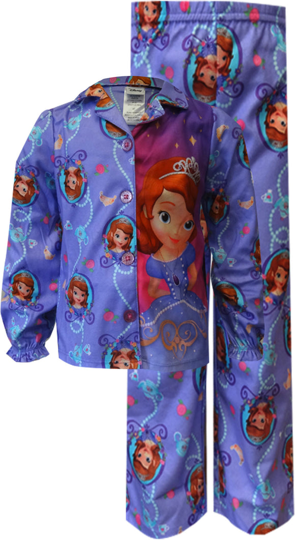 Disney Sofia The First Flannel Purple Toddler Pajama 2T