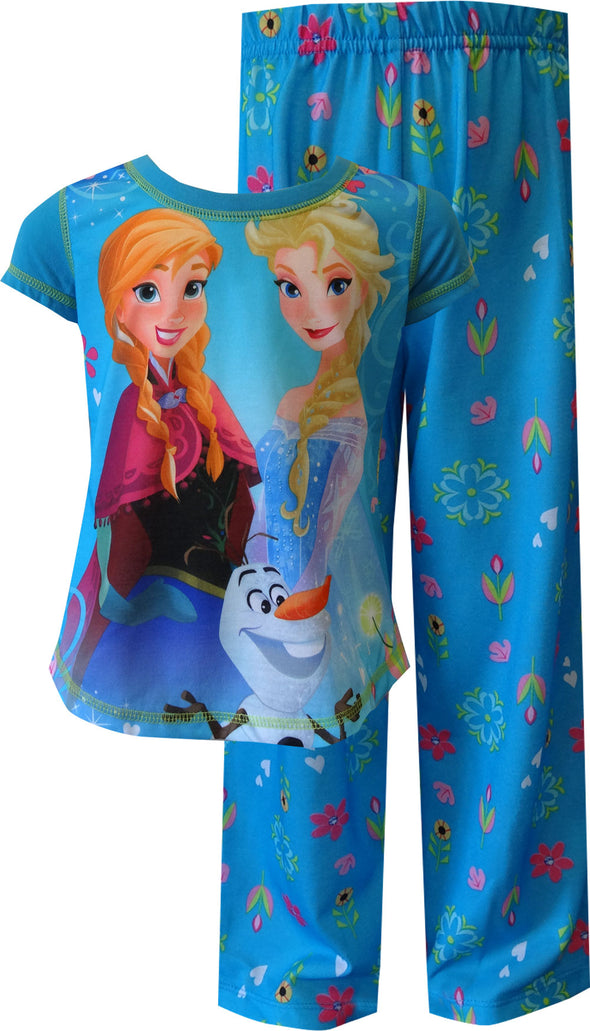 Disney Frozen Princesses Elsa, Anna and Olaf Triple Fun Pajama