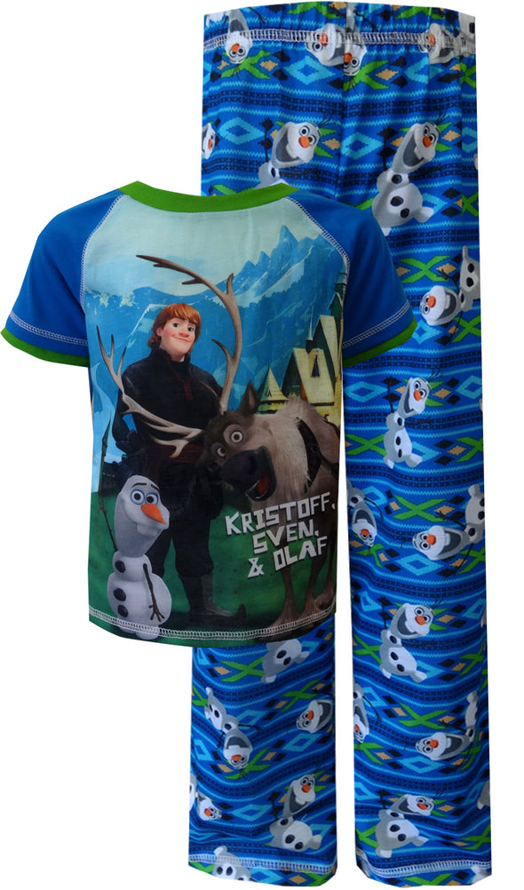 Disney Frozen Olaf with Kristoff and Sven Pajama