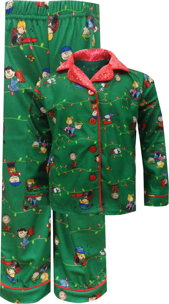 Peanuts Charlie Brown Christmas Traditional Toddler Girls Pajama