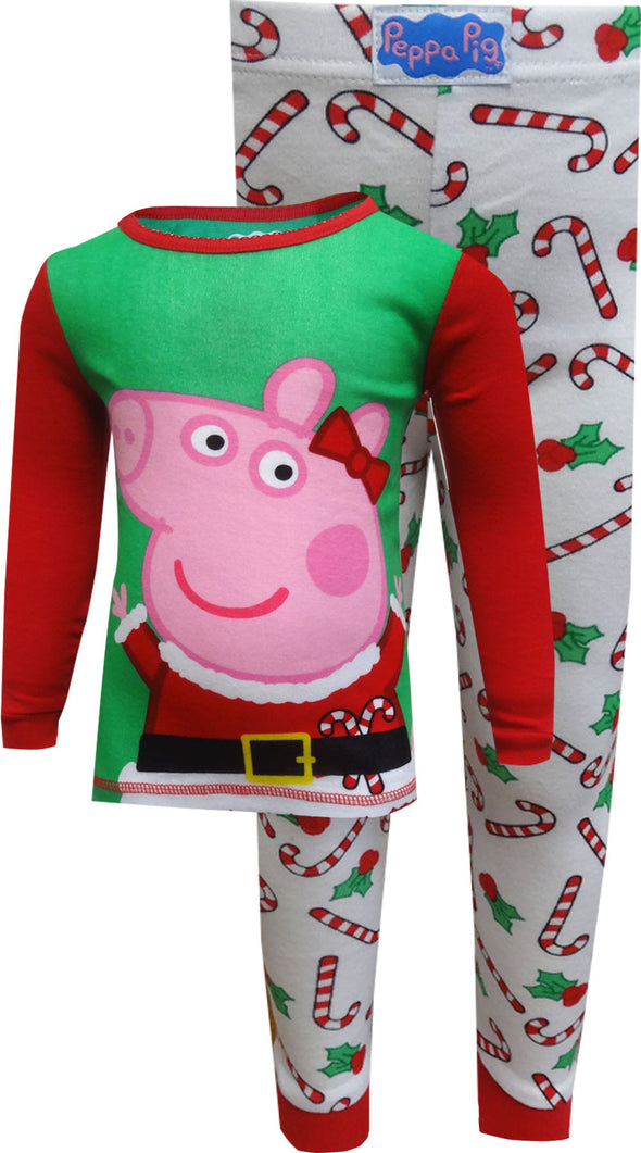 Peppa Pig Christmas Cotton Toddler Pajamas