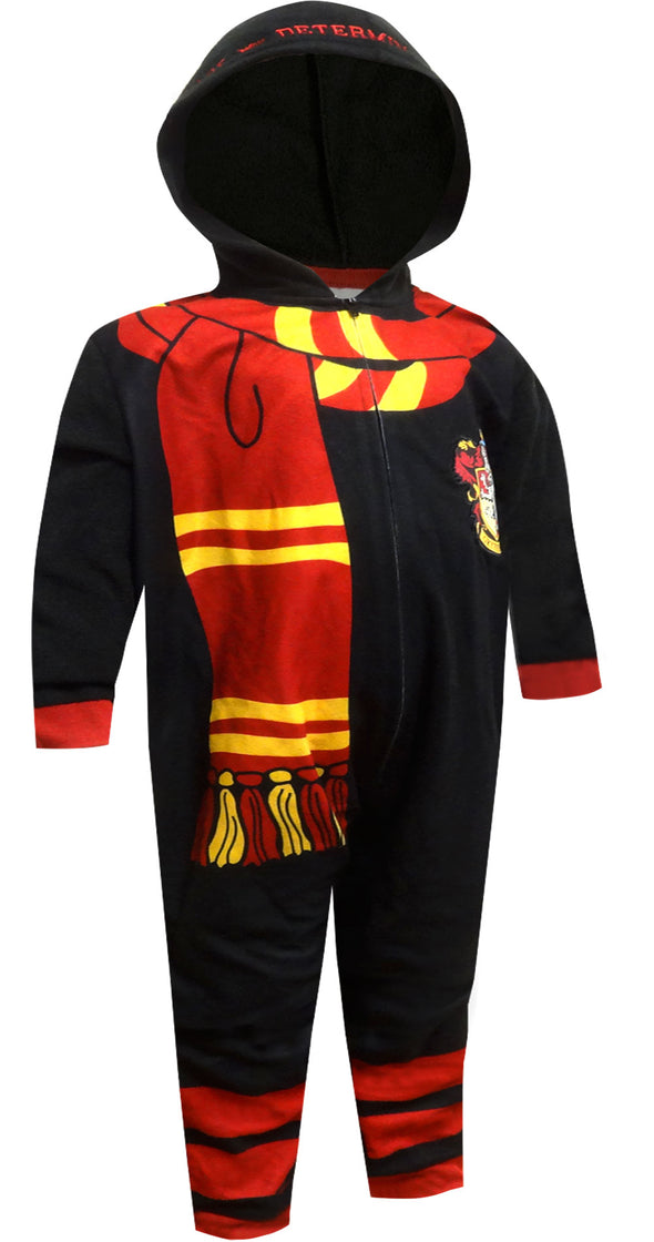Harry Potter Gryffindor Uniform Hooded One Piece Pajama