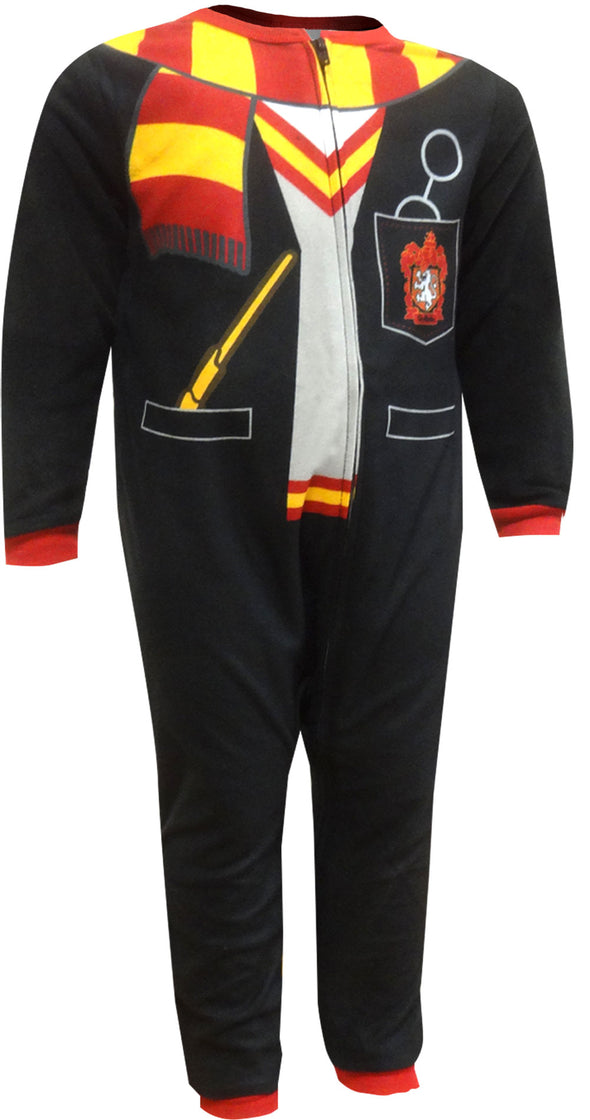 Harry Potter Gryffindor Uniform Hooded One Piece Toddler Pajama