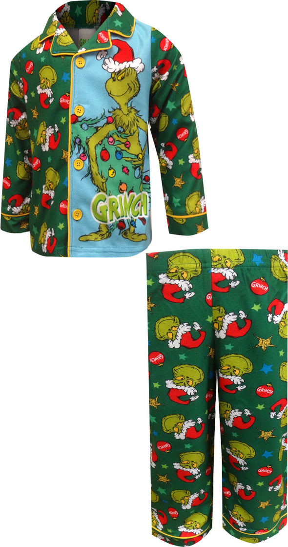 Dr. Seuss The Grinch Traditional Toddler Pajamas