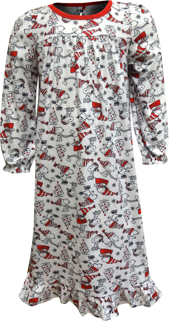 Peanuts Charlie Brown Christmas Snoopy Toddler Nightgown