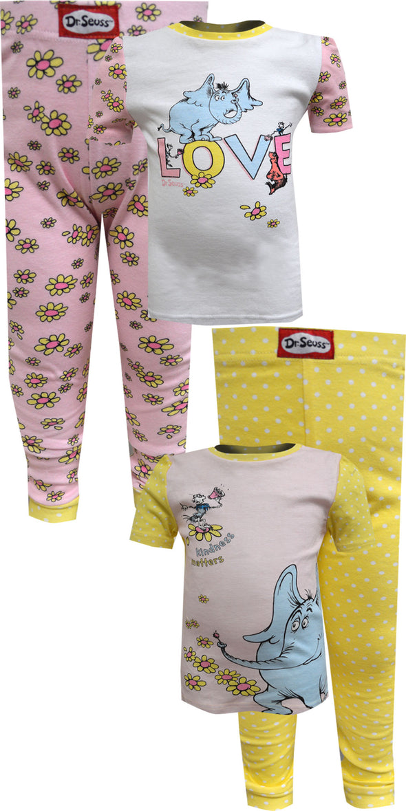 Dr Seuss Horton Hears A Who Girls Infant 4 Piece Pajamas