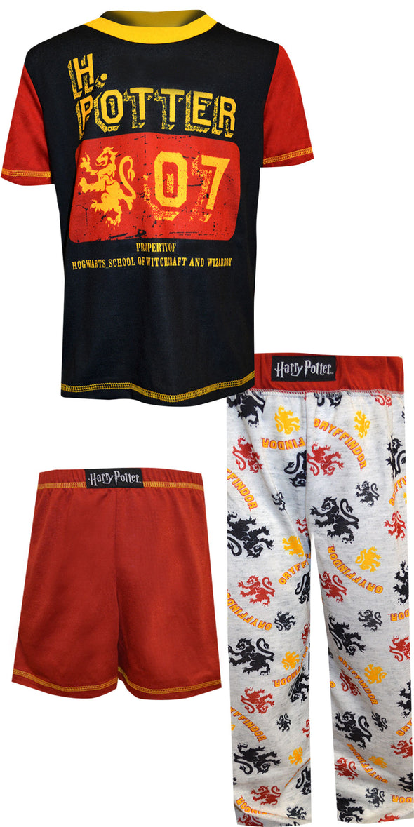 Harry Potter Gryffindor 3 Piece Pajama