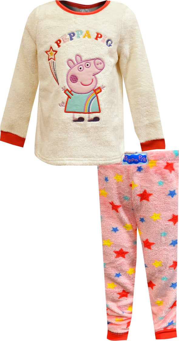 Nickelodeon Peppa Pig Cozy Plush Toddler Pajamas