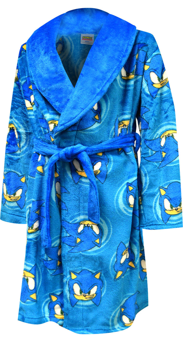 Sonic the Hedgehog Blue Plush Boys Robe