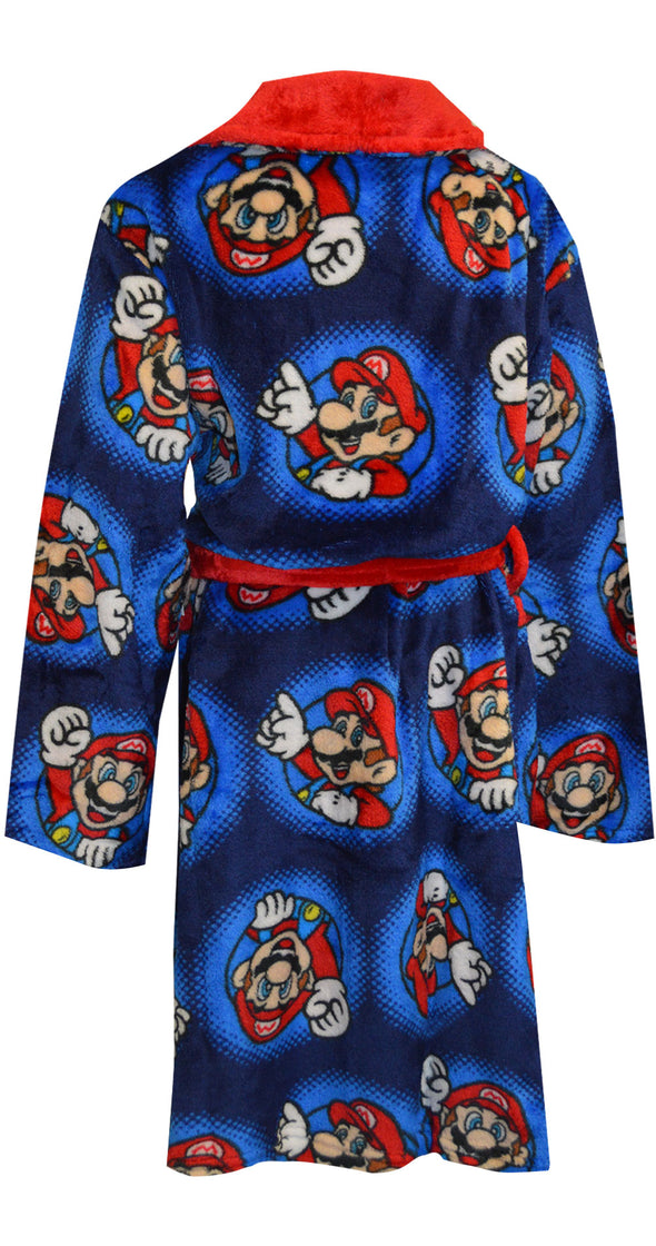 Super Mario Blue Plush Robe