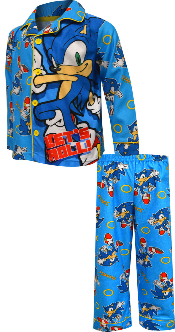 Sonic the Hedgehog Modern Flannel Pajamas