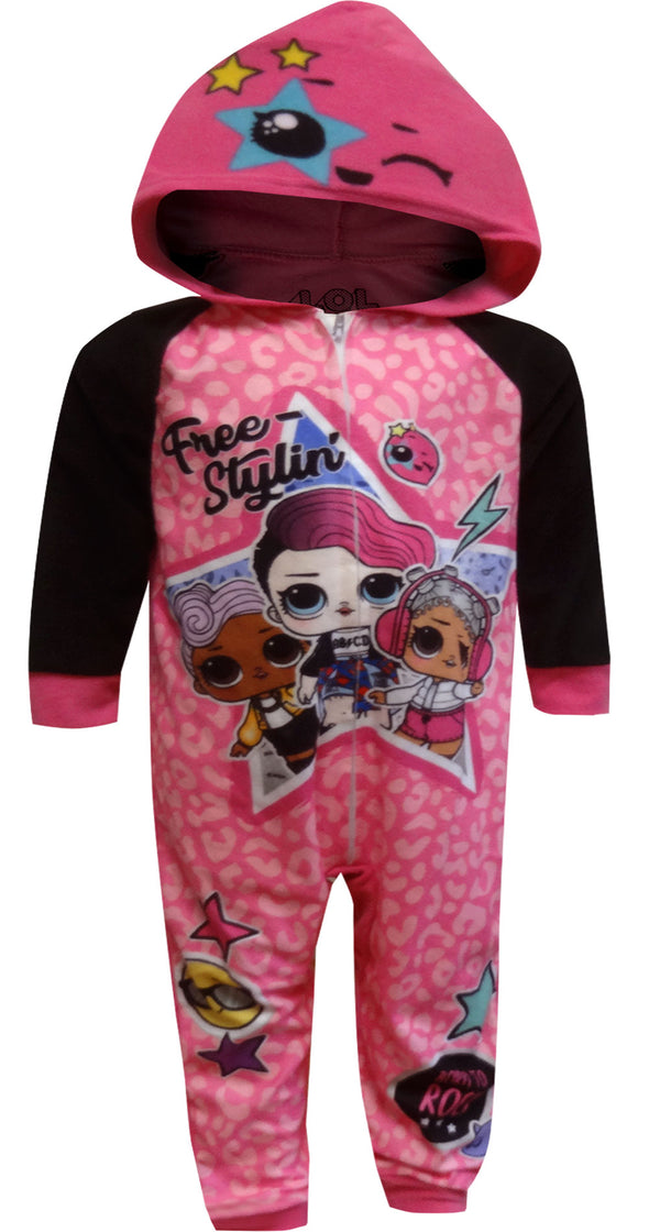 LOL Surprise Free Stylin' Blanket Sleeper Hooded One Piece Pajama