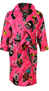 Hot pink robe with LOL Surprise characters all over