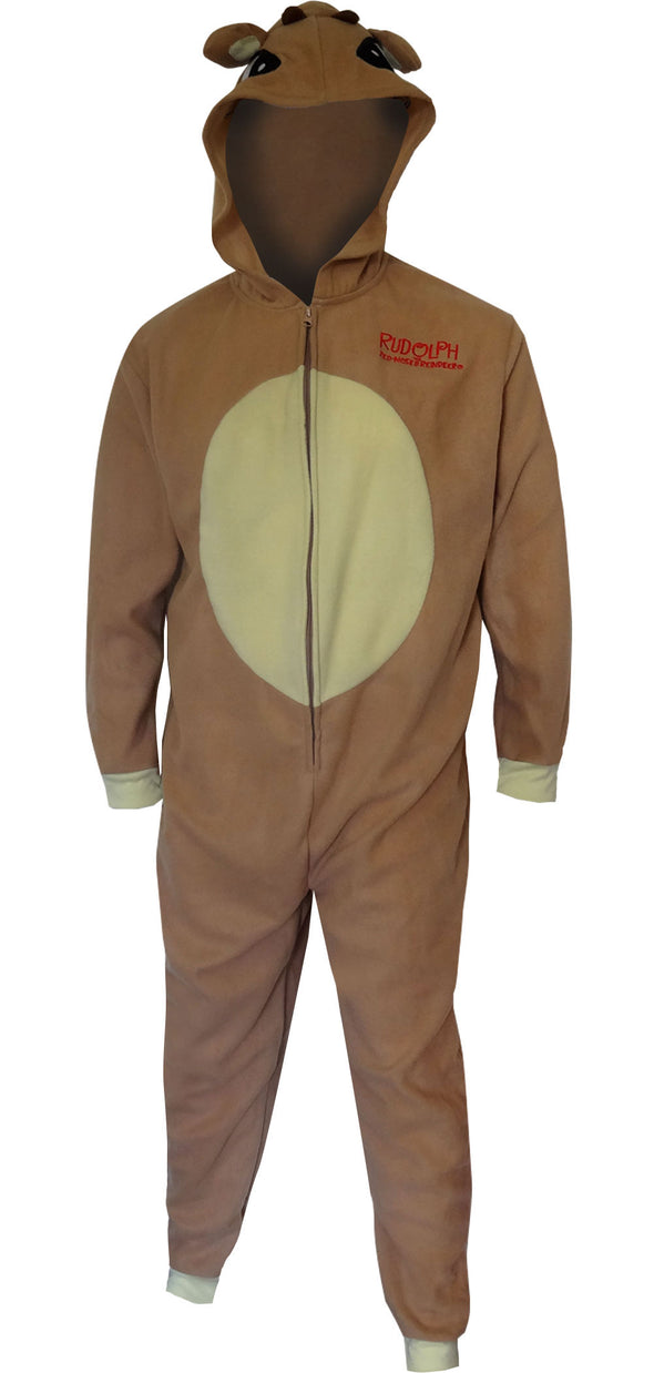 Dress Like Rudolph The Red-Nosed Reindeer Onesie Pajama