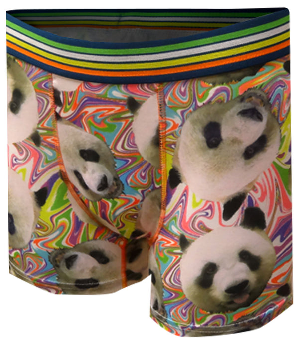 Psychedelic Panda Bears Boxer Briefs