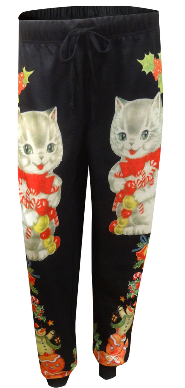 Cat Lovers Christmas Jogger Lounge Pants