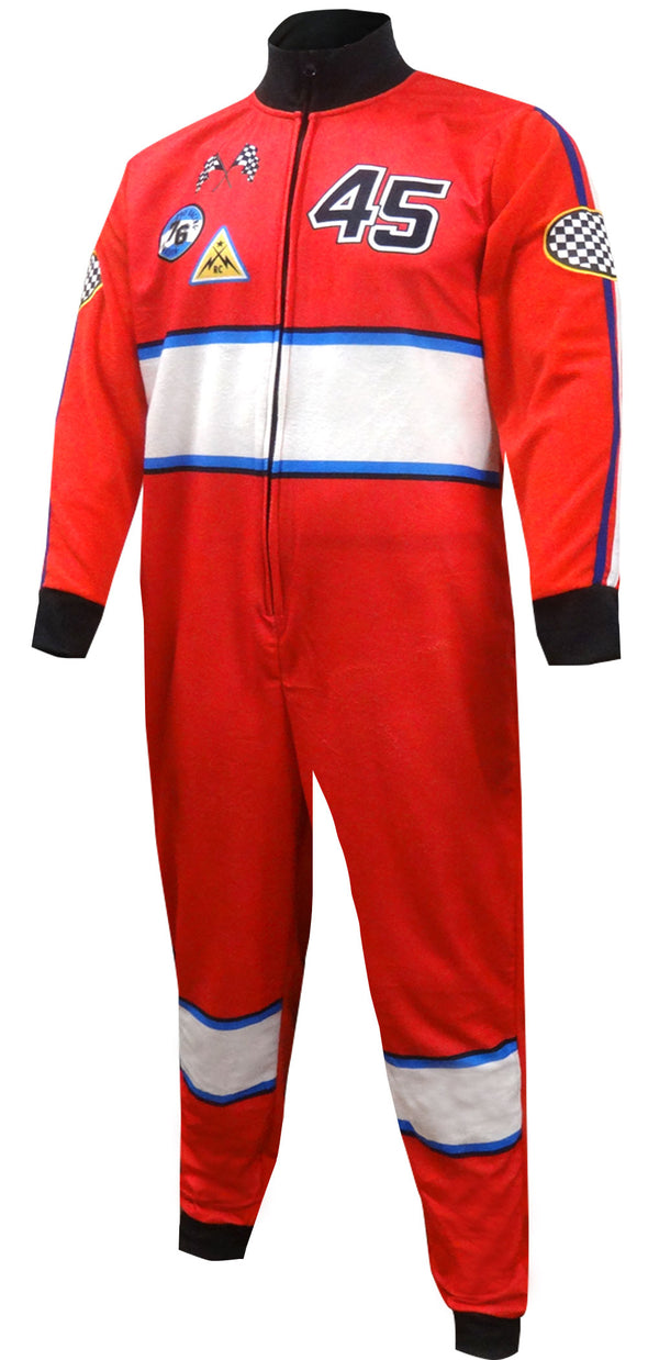 Race Car Driver Union Suit One Piece Pajama