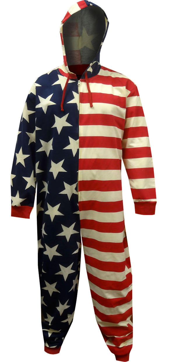 American Flag Stars and Stripes One Piece Pajama