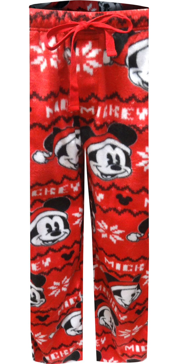 Disney Merry Christmas Mickey Mouse Minky Lounge Pants