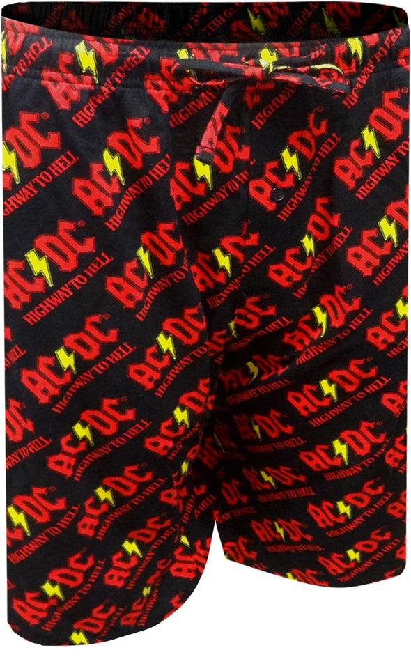 AC/DC Highway to Hell Long Sleep Shorts