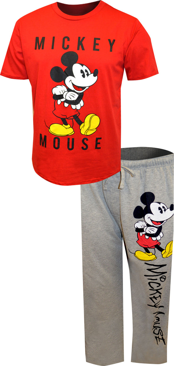Disney's Mickey Mouse Classic Tee and  Lounge Pant Pajama Set