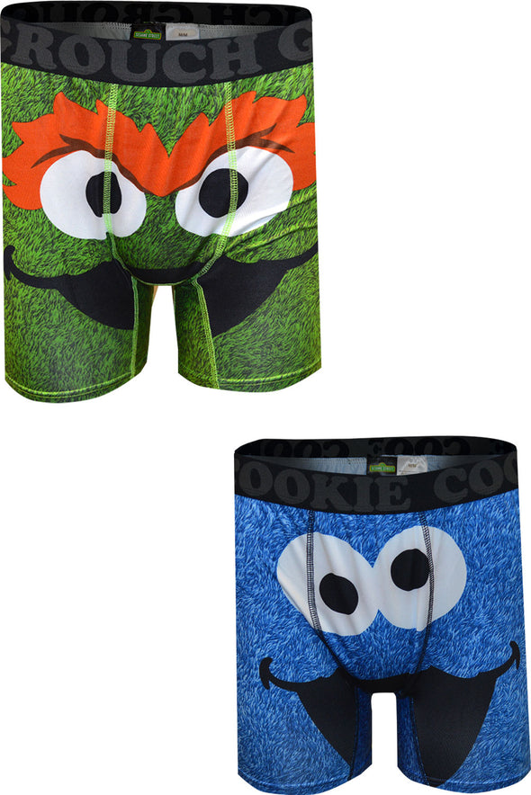 Sesame Street Cookie Monster and Oscar the Grouch 2 Pack Boxerbrief