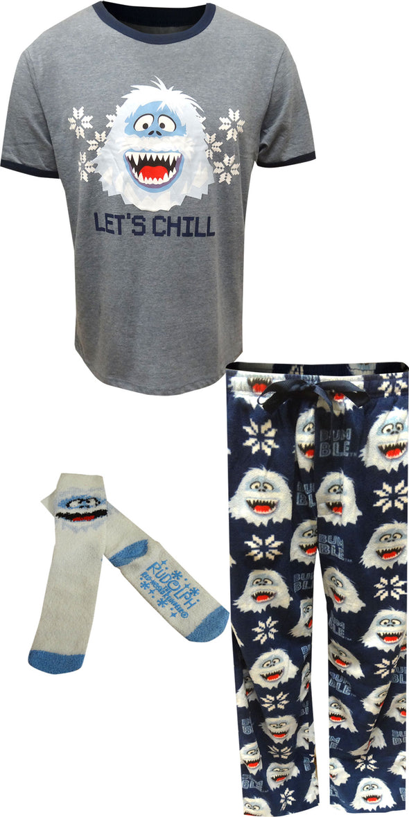 Rudolph The Red-Nosed Reindeer Bumble Let's Chill Pajama