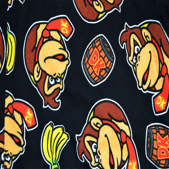 Nintendo Donkey Kong Black Cotton Lounge Pants