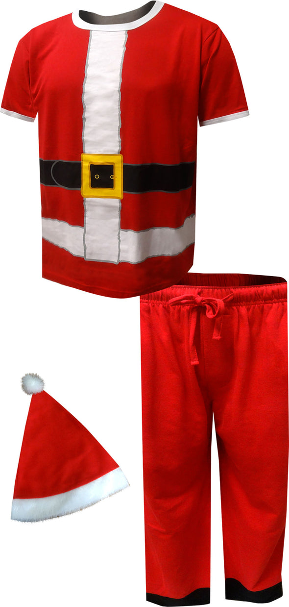 Dress Like Santa Claus Pajama Set with Hat